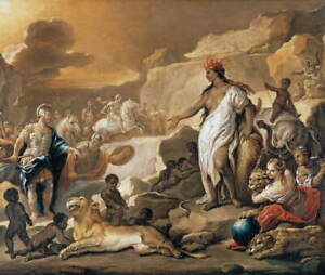 Luca Giordano The Four Parts of the World Africa Giclee Paper Print Poster