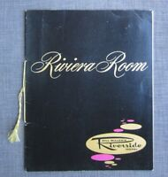 1962 Bill Miller's Riverside Hotel Riviera Room Menu, Reno Nevada