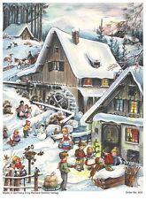 Richard Sellmer Verlag - Traditional German Paper Advent Calendar - Winter Mill