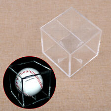 Baseball Billiard Ball Holder Display Case Stand Acrylic Cover UV Protection A3