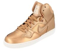 New Womens Girls Nike Son Of Force Mid High Sneaker Metallic Bronze UK 5.5 6 6.5