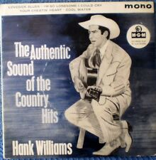 "HANK WILLIAMS-THE AUTHENTIC SOUND OF THE COUNTRY HITS ""RARE OZ"" EP 45 RPM"