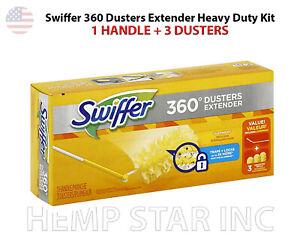 SWIFFER 360° DUSTER ENTENDER KIT, 1 HANDLE + 3 DUSTERS / KIT
