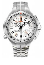 TX T3B861 Mens White Dial Analog Quartz Watch With Stainless Steel Strap