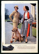 TWEED - JACKET - COAT - SKIRT - LABRADOR 1955 MAGAZINE ADVERT