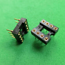 10pcs New 8 Pin Gold-Plated Socket For OP-AMP DIP8