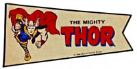 "Marvel Thor Pennant 1966 Vintage  Marvel mania-5 1/2"" X 3"" authentic Super Hero"