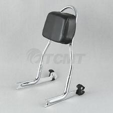 Chrome Detachable Sissy Bar Backrest For Harley Softail FLSTN Fat Boy FLSTF TCMT