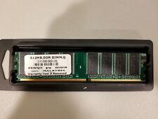 Memory RAM (1x 512MB) DDR-400 PC-3200 DIMM 64WQD Desktop