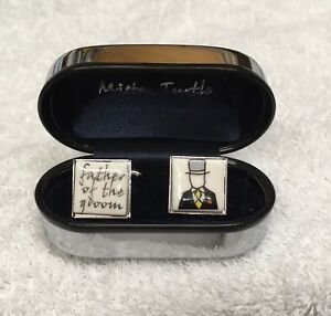 Father Of The Groom Cuff links. Perfect Wedding Gift