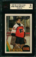 1987 88 OPC #169 RON HEXTALL ROOKIE CARD KSA 9 MINT