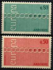 Andorra French 1971 SG#F231-2 Europa MNH Set #D71811