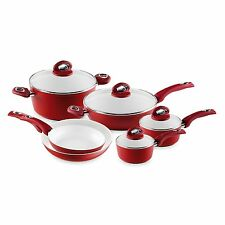 Bialetti Aeternum 10 Piece Ceramic Nonstick Cookware Set Eco Friendly NEW
