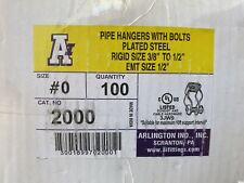 Box Of 100 Nib Minerallac K2B Hanger W/ Bolt For Rigid Size 3/8-1/2 Emt 1/2�