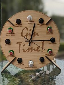 Gin Time Clock - Gin Bottle Holder Design