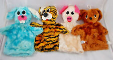 Vintage Animal Hand Puppets Spectacular Products Tiger Rabbit Pig Dog
