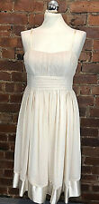 New Look Cream Chiffon and Satin Dress - Size 10 - Party Occasion Chic