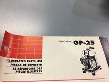 shindaiwa Gp-25 illustrated parts list,Ipl