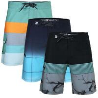 Men's Teen's Elastic Board Shorts 36 Size Swimming Novelty Swim Trunks Blue