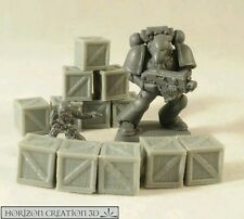 HC3D - Crates 10x10x10mm - 12 Pack -Terrain & Scenery Fantasy