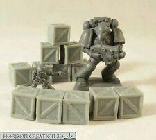 HC3D - Crates 10x10x10mm - 12 Pack -Terrain & Scenery Fantasy