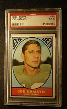 1967 TOPPS #98 JOE NAMATH PSA EX 5 NICE CARD
