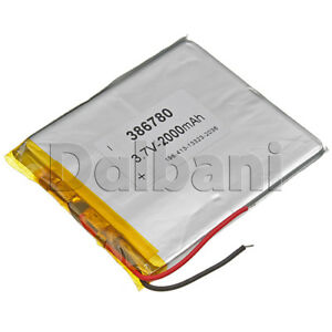 New 3.7V 2000mAh Internal Li-ion Polymer Built-in Battery 82X69X3mm 29-16-0118