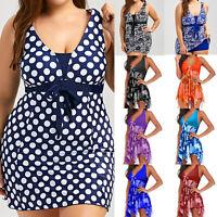 Women Swimwear Swimming Costume One Piece Swimdress Padded Tankini Beachwear