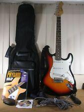 Kansas Double Cutaway S Style Sunburst Electric Guitar Kit Case Cable Books DVD