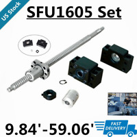 RM1605 SFU1605 250-1500mm C7 Ball Screw+ BK/BF12 CNC+ 6.35x10mm Coupler set Kits