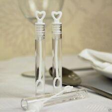 48 bolle di sapone a provetta con cuore MATRIMONIO wedding bubbles tubetto BAG