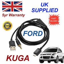 para FORD KUGA Samsung HTC & LG Sony Nokia Micro USB & 3.5mm Aux Audio Cable BLK