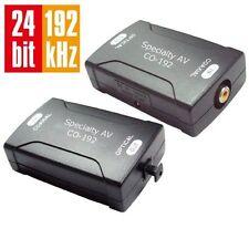 COAX Coaxial to TOSlink Optical Digital Audio Converter 24bit 192K sampling rate