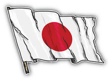 Japan Flag Sketch Car Bumper Sticker Decal 5'' x 4''
