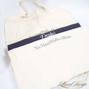 LOT X3 LNWOT No Man Walks Alone Drakes London Cloth Canvas Jacket Garment Bag NR