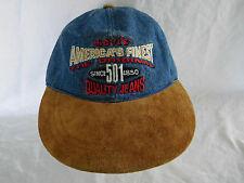 Levi s 501 Denim Suede Baseball Cap Dad Hat Unstructured Leather Strapback 3241a58d0d04