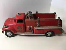 Vintage Tonka 1950's Fire Pumper Truck No. 5 Metal Pressed Toy