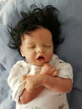 Reborn  Realborn Baby doll Asleep 16 inch with Full Hair super cute