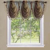 Achim Achim Ombre Window Curtain Waterfall Valance Chocolate