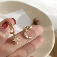 Geometric Women Dangle Earring Asymmetric Earring Crystal Moon Star Jewelry Gift