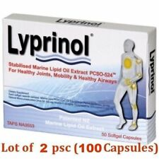 2 x Lyprinol New Zealand Green Lipped Mussel Extract - total 100 capsules!