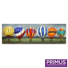 Primus Balloons of Colour 3D Hand Crafted Metal Wall Art Hot Air Vibrant