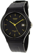 Casio MW59-1E Men's Analog Watch Black and Gold Date Display Casual New