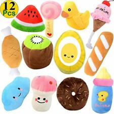 New listing Dog Small Plush Toys, 12Pack Lot For Dog Chew Sound Squeaker Squeaky Puppy Toys