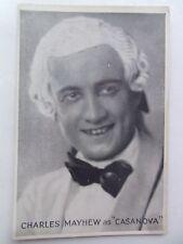 CHARLES MAYHEW vintage postcard 1932 theatre actor RP Coliseum Casanova