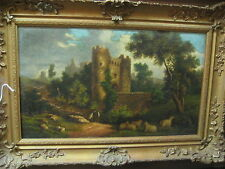 """Oil on Canvas Painting """"Castle"""" signed A.Gaker"""