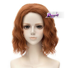 30CM Orange Curly Full Wig for The Avengers Black Widow Ash Anime Cospaly Wig