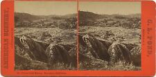 California, American Scenery stereoview 1860's Placer Gold Mining, Murphy's, CA