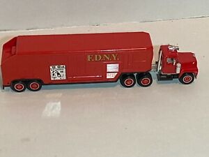 2 Fire Department toy trailers New York FDNY & England diecast, plastic.  1:24