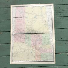 Large Antique Map of Saskatchewan 1911 Rand-McNally Atlas 28.25 x 20.5